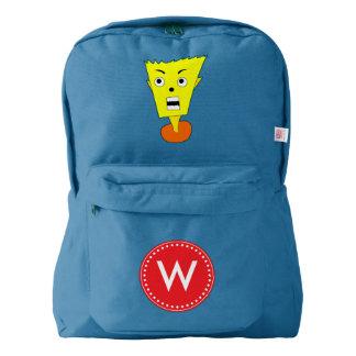 Shocked Cartoon Face American Apparel™ Backpack