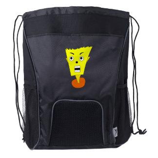 Shocked Cartoon Face Drawstring Backpack