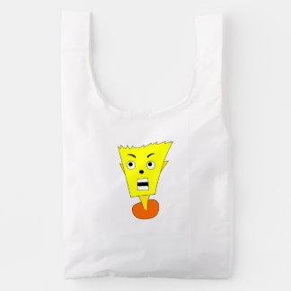 Shocked Cartoon Face Reusable Bag