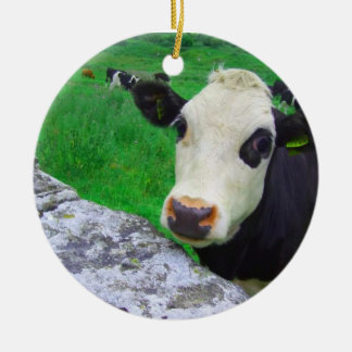 Shocked Cow Ornament