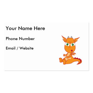 Shocked Dragon Making a Silly Face Business Card