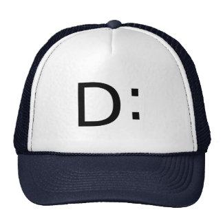 Shocked Emoticon Trucker Hat