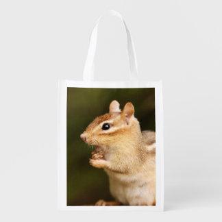 Shocked Expression Chipmunk Reusable Grocery Bag