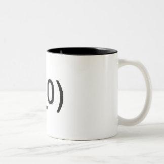 Shocked face mug (two tone)