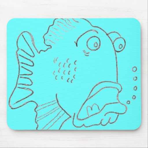 Shocked Fish Mouse Pad