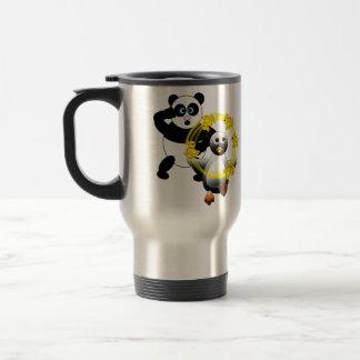 SHOCKED PANDA ~ PENGUIN JUGGLING DUCKS COFFEE MUG