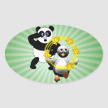 SHOCKED PANDA ~ PENGUIN JUGGLING DUCKS STICKER