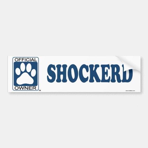 SHOCKERD_blue Etiqueta De Parachoque