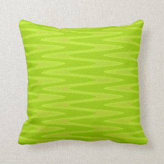Shocking Bright Green Chartreuse Zigzag Pattern Pillows