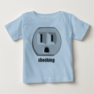 Shocking Electricity Wall Outlet Baby T-Shirt