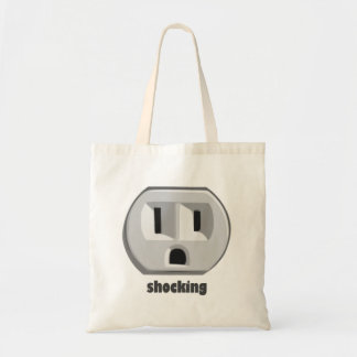 Shocking Electricity Wall Outlet Canvas Bags