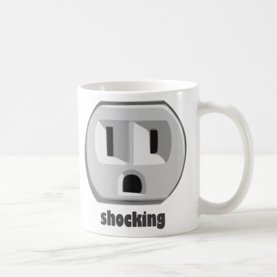 Shocking Electricity Wall Outlet Coffee Mug