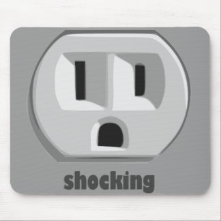 Shocking Electricity Wall Outlet Mouse Pad