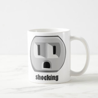 Shocking Electricity Wall Outlet Coffee Mugs