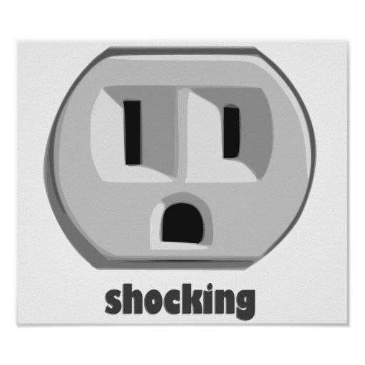 Shocking Electricity Wall Outlet Print