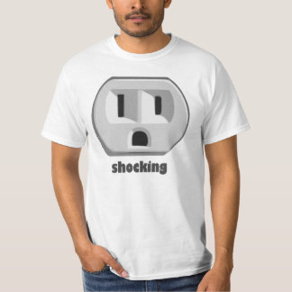 Shocking Electricity Wall Outlet Tee Shirt