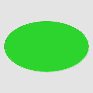 Shocking Green Background template - customise own Oval Sticker