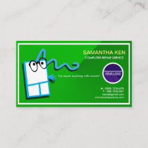 Shocking Green Funny Mouse PC Repair Business Card