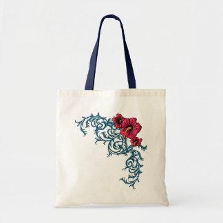 Shocking Hibiscus Tote Bag
