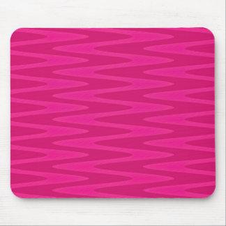 Shocking Hot Pink Zigzag Pattern Mouse Pad