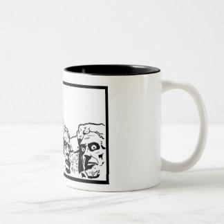 Shocking Mt. Rushmore Two-Tone Coffee Mug