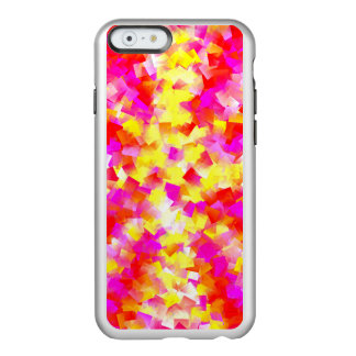 Shocking Neon Pink and Yellow Confetti Incipio Feather® Shine iPhone 6 Case