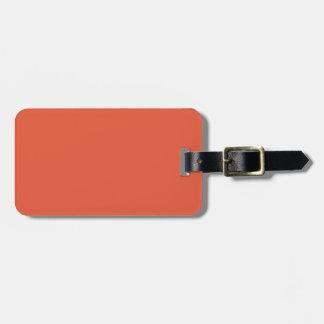 Shocking Orange Luggage Tag