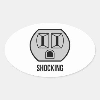 Shocking Oval Sticker