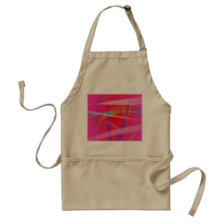 Shocking Pink Abstract Art Aprons