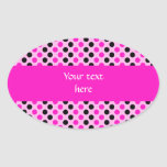Shocking Pink and Black Polka Dots Sticker