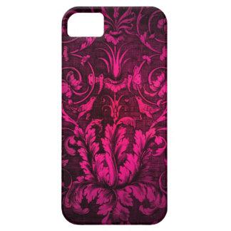 Shocking Pink Damask I Phone case. iPhone 5 Cases