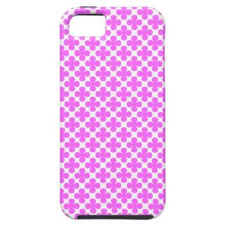 Shocking Pink Flower Patterned iPhone 5 Case
