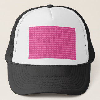 Shocking Pink Heart Background Trucker Hat