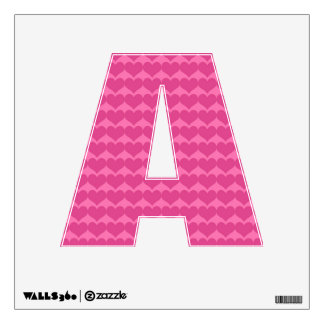 Shocking Pink Heart Background Wall Decal