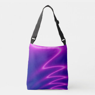 Shocking Pink Lightening Crossbody Bag