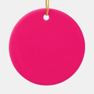 Shocking Pink Christmas Tree Ornaments