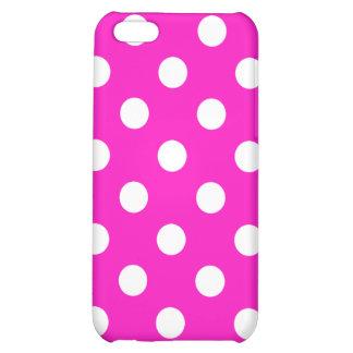 Shocking Pink Polka Dot iPhone Case iPhone 5C Case