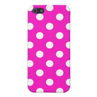 Shocking Pink Polka Dot iPhone Case iPhone 5/5S Cases