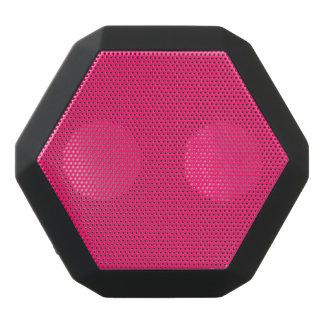 Shocking Pink Solid Color Customize It Black Bluetooth Speaker