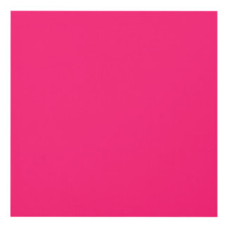 Shocking Pink Solid Color Customize It Panel Wall Art