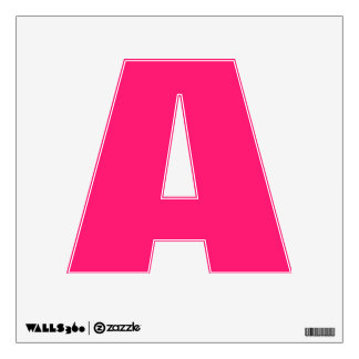 Shocking Pink Solid Color Customize It Wall Decal