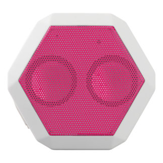 Shocking Pink Solid Color Customize It White Bluetooth Speaker