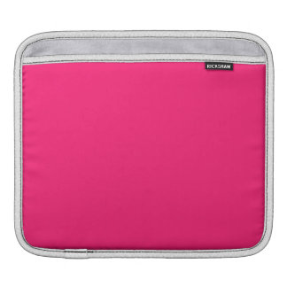 Shocking Pink Solid Color iPad Sleeves