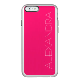 Shocking Pink Solid Color Incipio Feather® Shine iPhone 6 Case