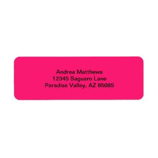 Shocking Pink Solid Color Return Address Label