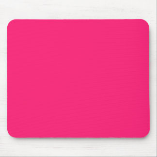 Shocking Pink Solid Color Mouse Pad