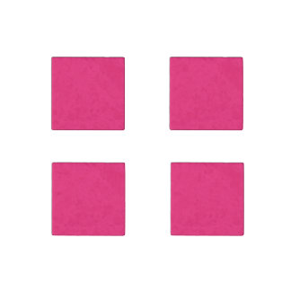 Shocking Pink Solid Color Stone Magnet