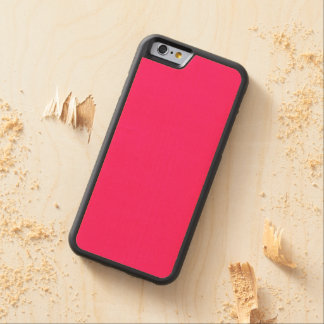 Shocking Pink Solid Color Carved® Maple iPhone 6 Bumper
