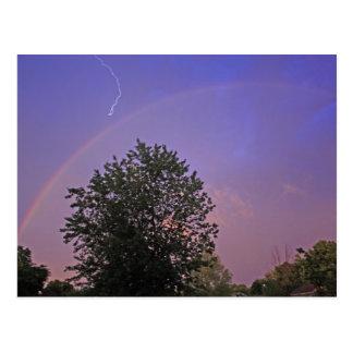 Shocking Rainbow Postcard