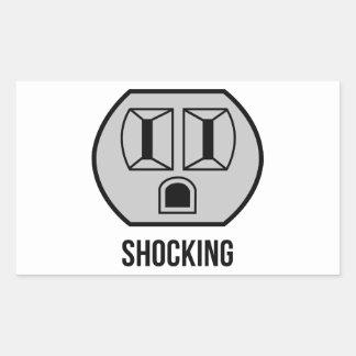 Shocking Rectangular Sticker